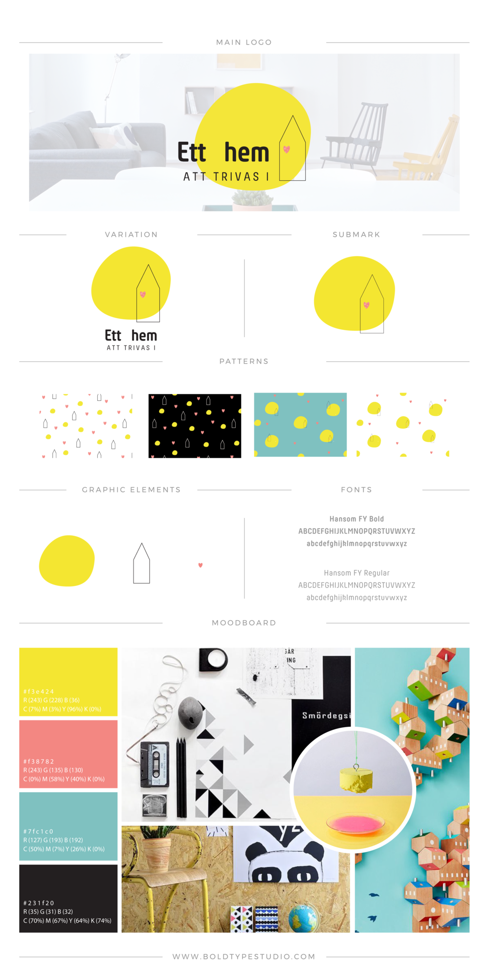 Brand Styling for Ett Hem Att Trivas I - a non-profit organisation based in Sweden