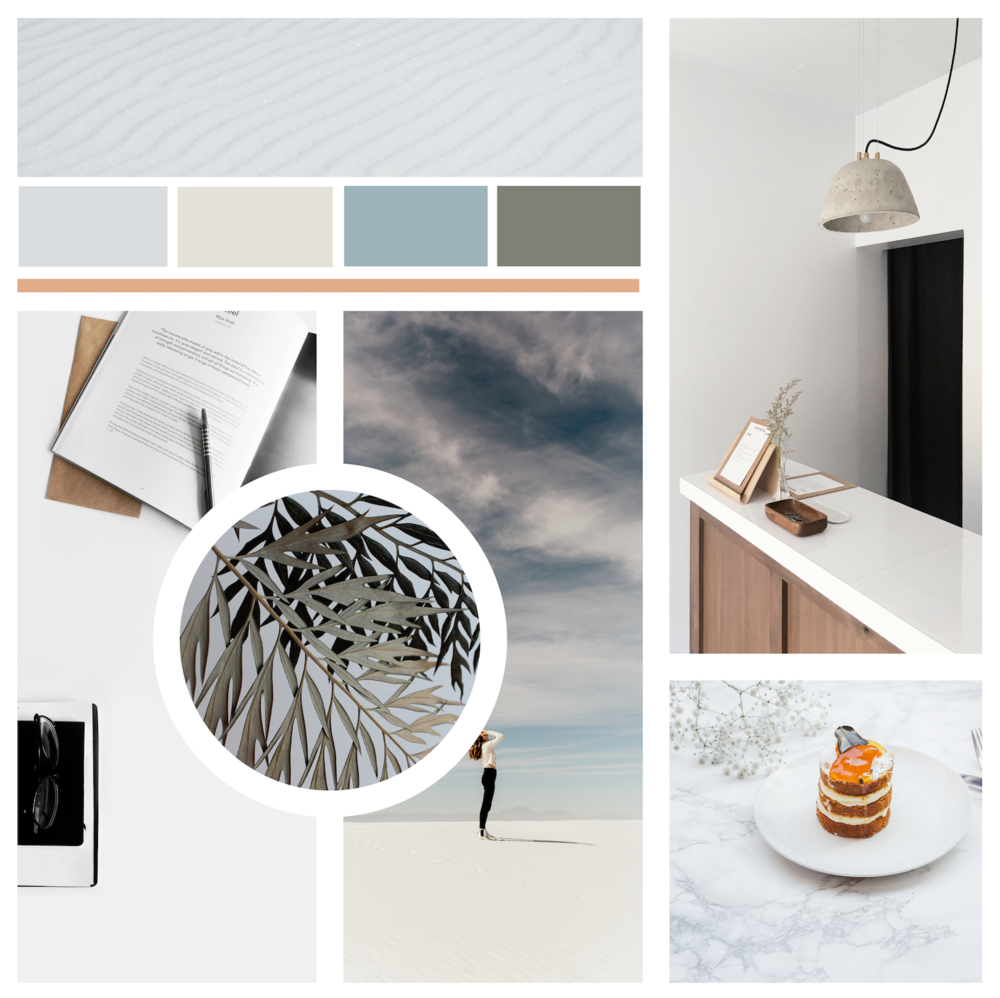 Grey-based color palettes are getting popular - my moodboard on the theme.