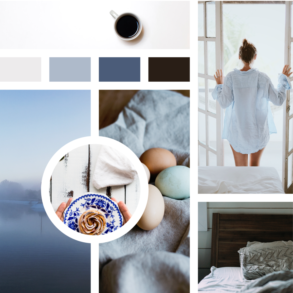 """Slow Morning"" Moodboard and Palette"