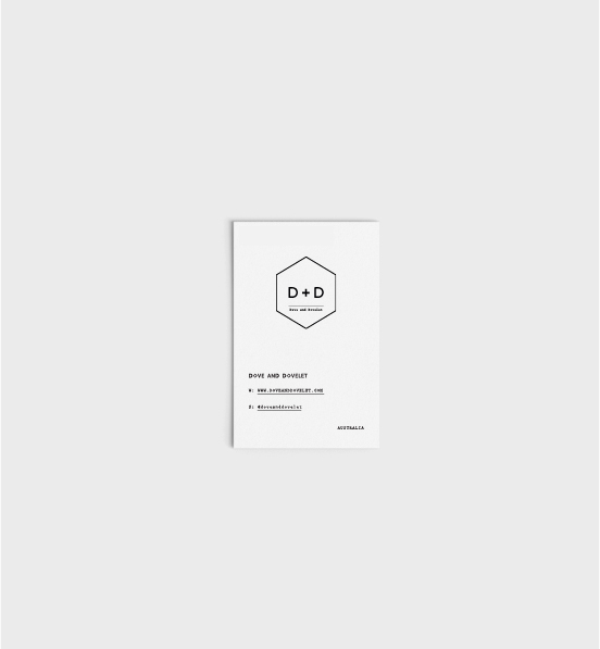 Dove and Dovelet ´s business card by  Bold Type Studio