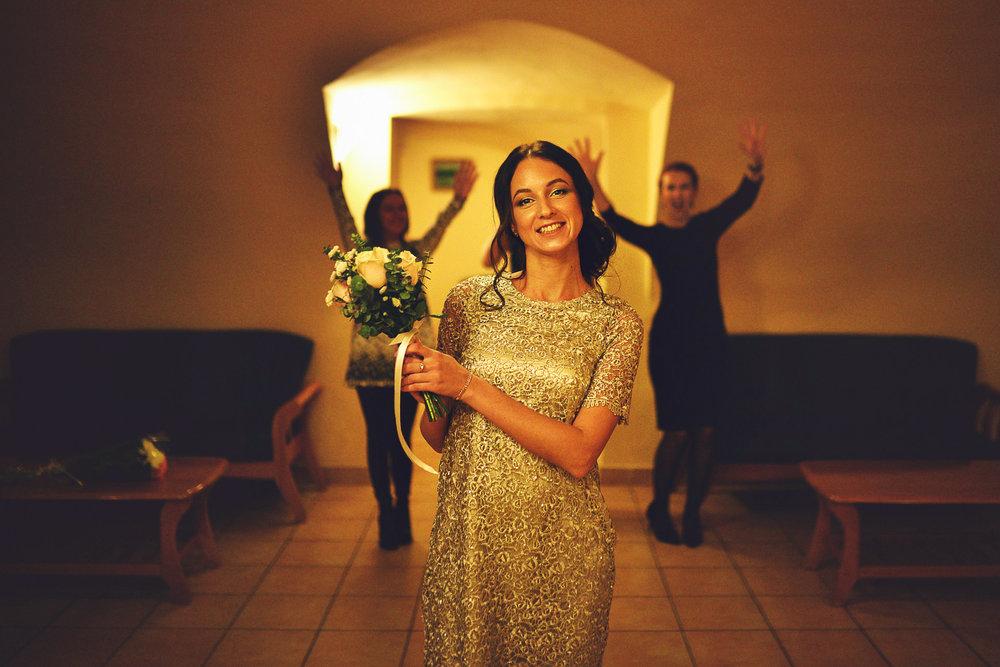 невеста бросает букет загс спб