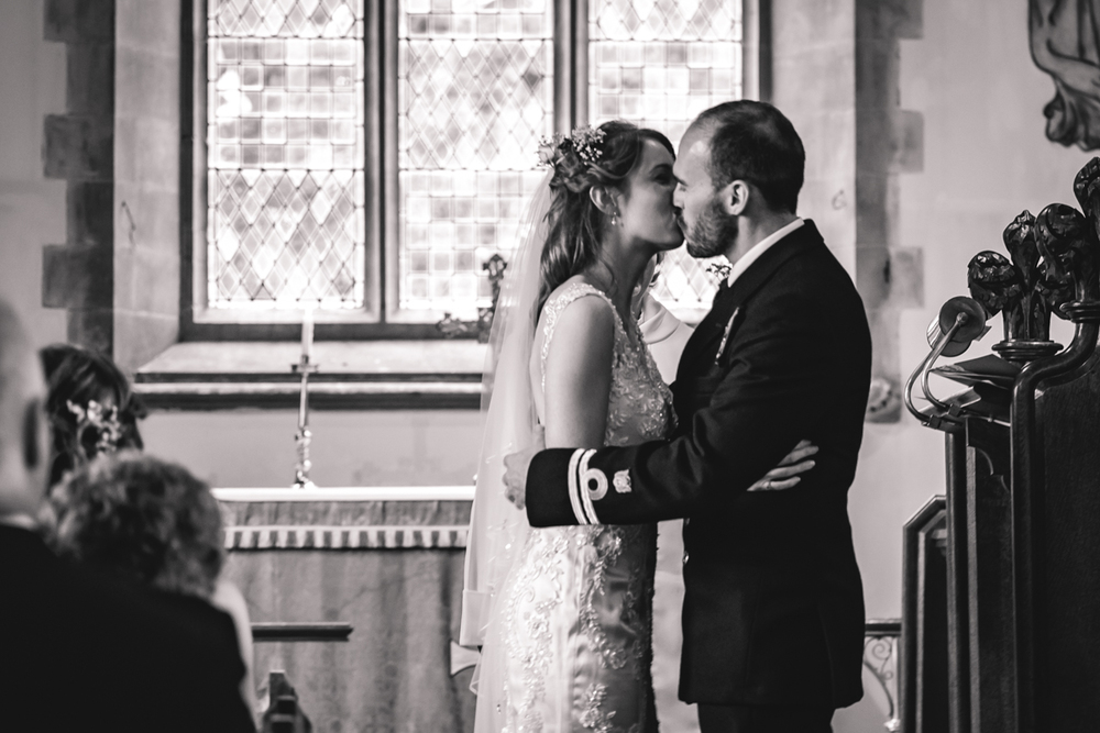 First Kiss as Husband and Wife, Brecon Summer Wedding