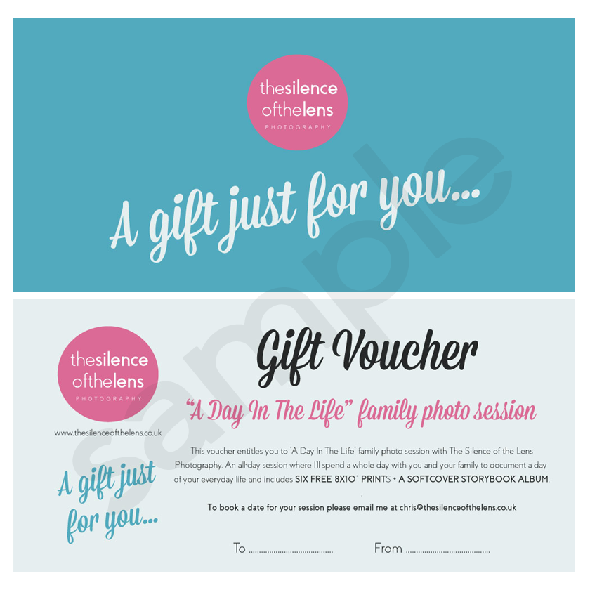 gift vouchers family lifestyle photography sessions the silence