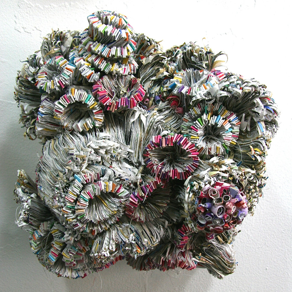 Jaynie Crimmins_paper sculpture_junk mail