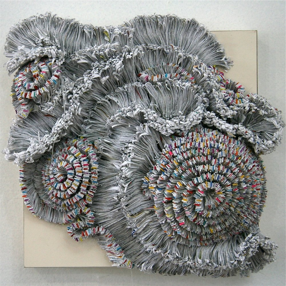 Jaynie Crimmins_paper sculpture_ junk mail