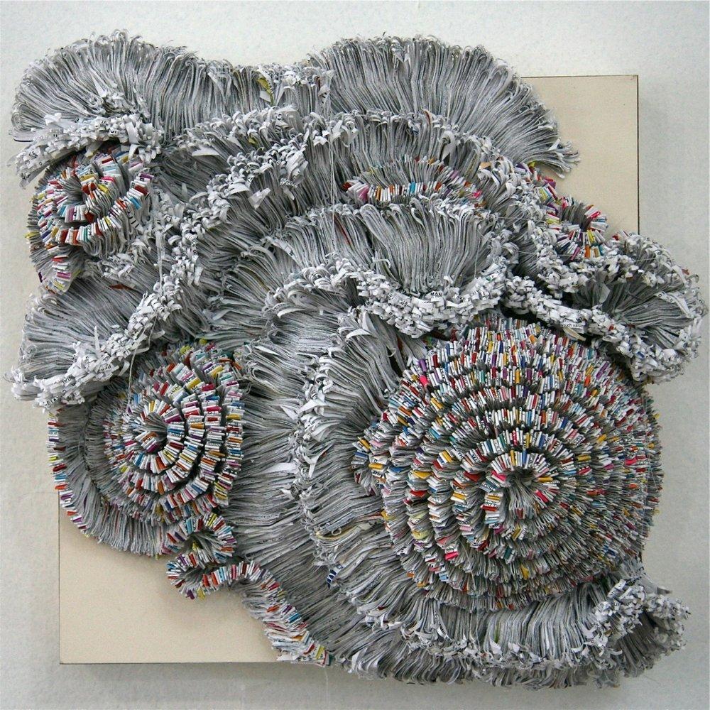 Jaynie Crimmins_paper sculpture_ junk mail