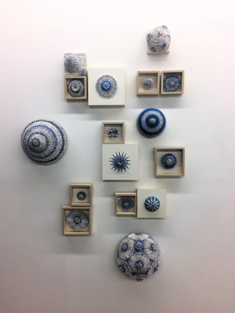 Jaynie Crimmins_paper sculpture_building blue wall