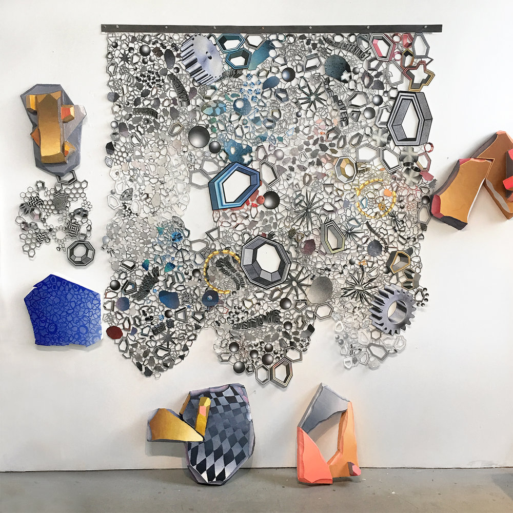 Nancy Baker_mixed media installation art