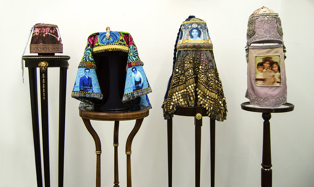 Four Fez pieces at Chelsea studio.jpg