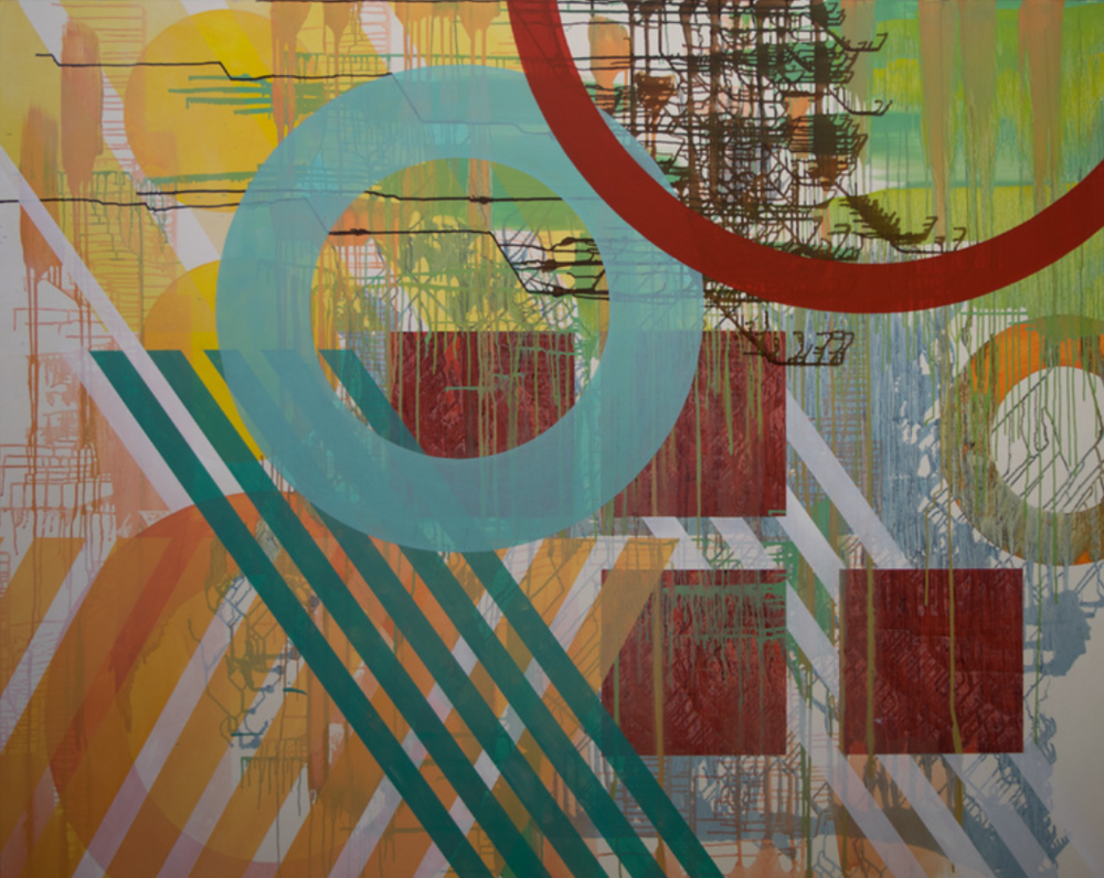 Linda Kamille Schmidt_Circuit_abstract geometric oil painting.png