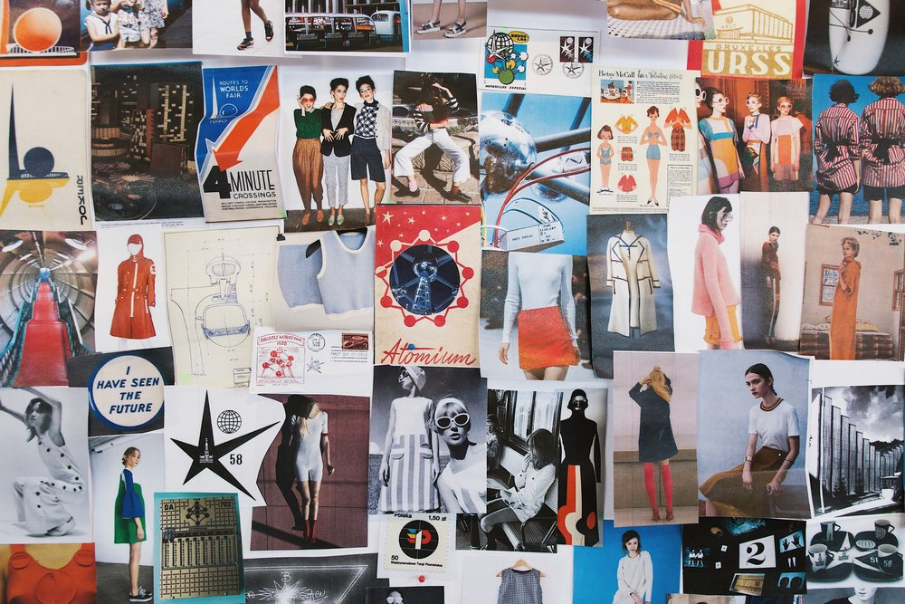 Our designers' EXPO '58 moodboard