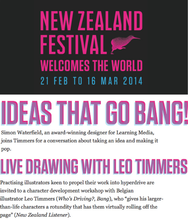NZ FESTIVAL     I'm really excited to be part of the   New Zealand Festival's   writers week section on monday 10 march!
