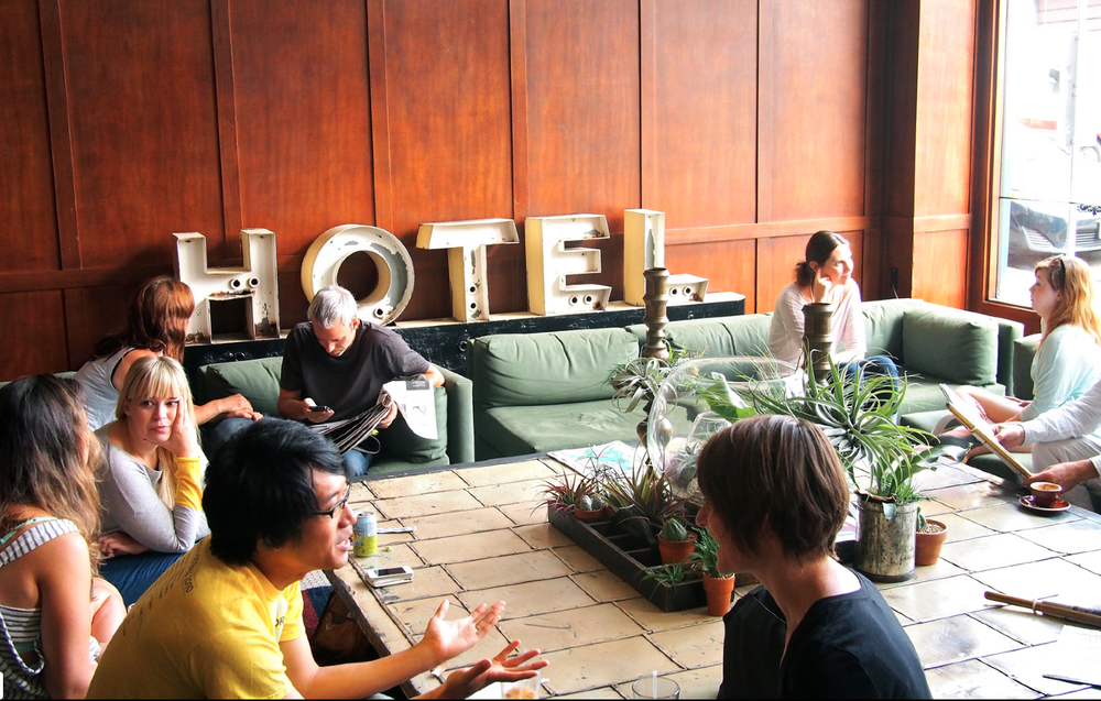 Ace Hotel London offer its users a social network area.