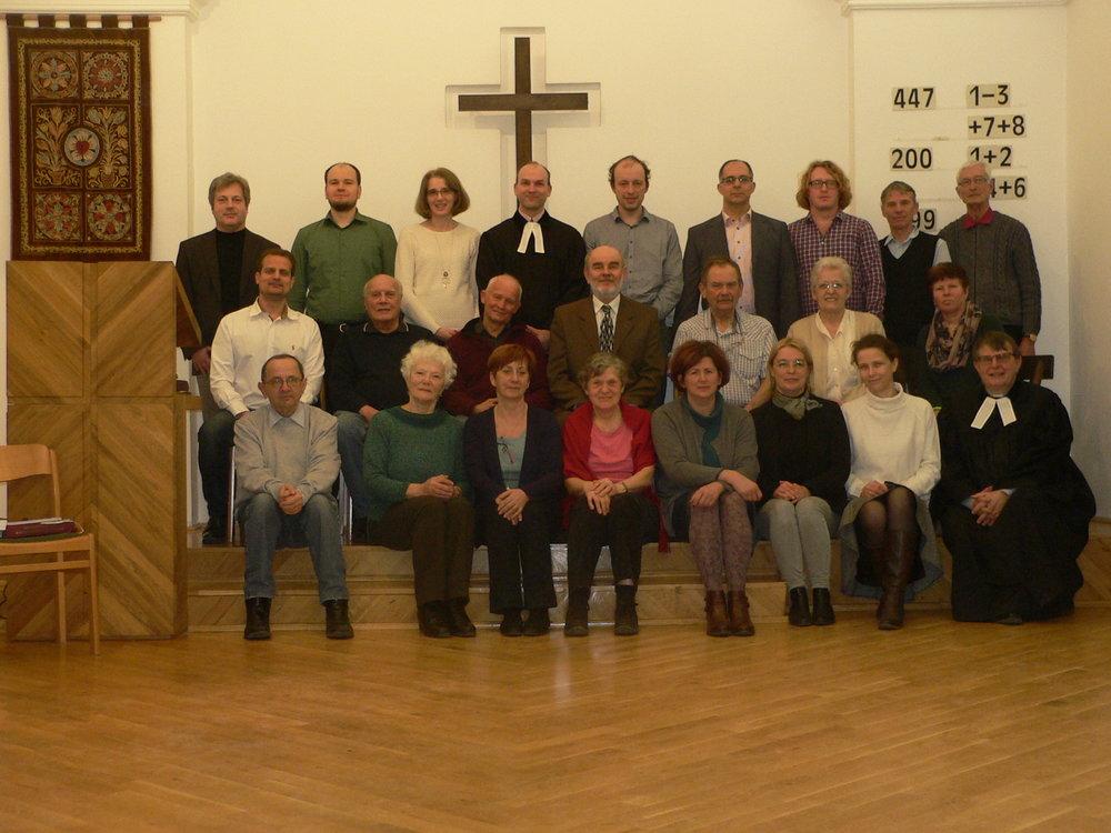A Budavári Egyházközség presbitériuma a ciklus utolsó presbiteri gyűlésén! Istennek hála a 6 év közös szolgáltért!