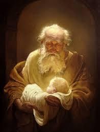 """Lk 2.25-32. Íme, élt egy ember Jeruzsálemben, akinek Simeon volt a neve. Igaz és kegyes ember volt, várta Izráel vigasztalását, és a Szentlélek volt rajta. Azt a kijelentést kapta a Szentlélektől, hogy nem hal meg addig, amíg meg nem látja az Úr Krisztusát. A Lélek indítására elment a templomba, és amikor a gyermek Jézust bevitték szülei, hogy eleget tegyenek a törvény előírásainak, akkor karjába vette, áldotta az Istent, és ezt mondta: """"Most bocsátod el, Uram, szolgádat beszéded szerint békességgel, mert meglátták szemeim üdvösségedet, amelyet elkészítettél minden nép szeme láttára, hogy megjelenjék világosságul a pogányoknak, és dicsőségül népednek, Izráelnek."""""""