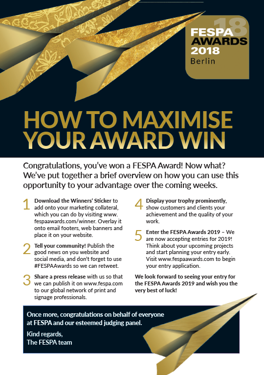 How to Maximise your Awards Win