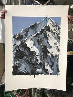 MOUNTAIN   Atelier fuer Siebdruck - Lorenz Boegli, Switzerland    Shortlisted Sticker Download