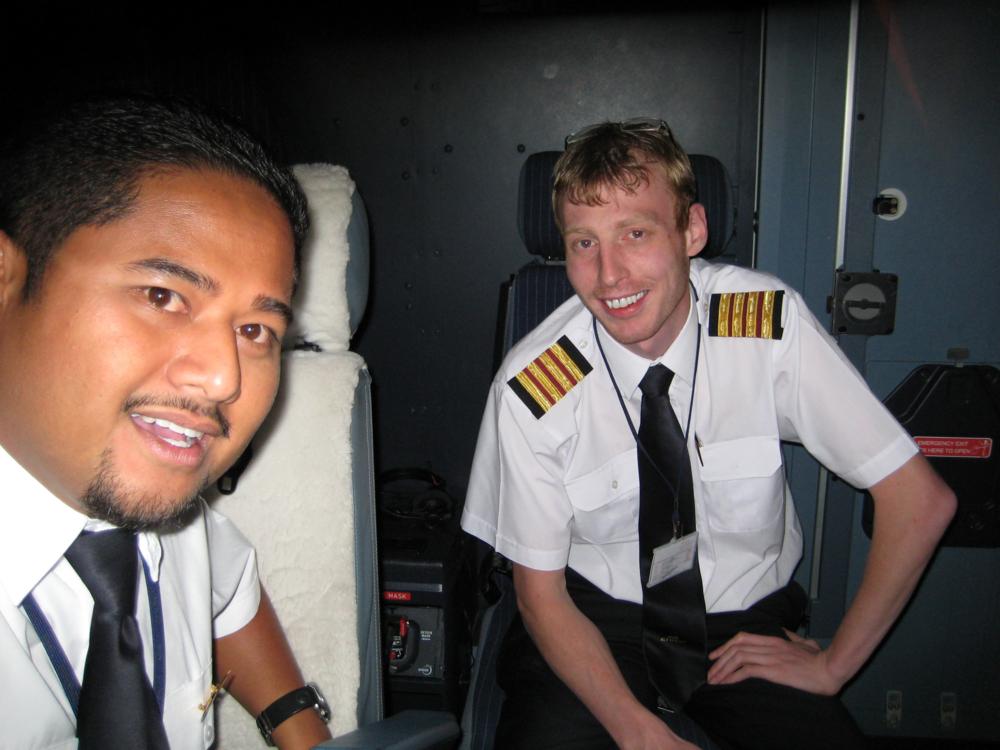 Managing Director Stephen Wilkinson A330 Flight Deck