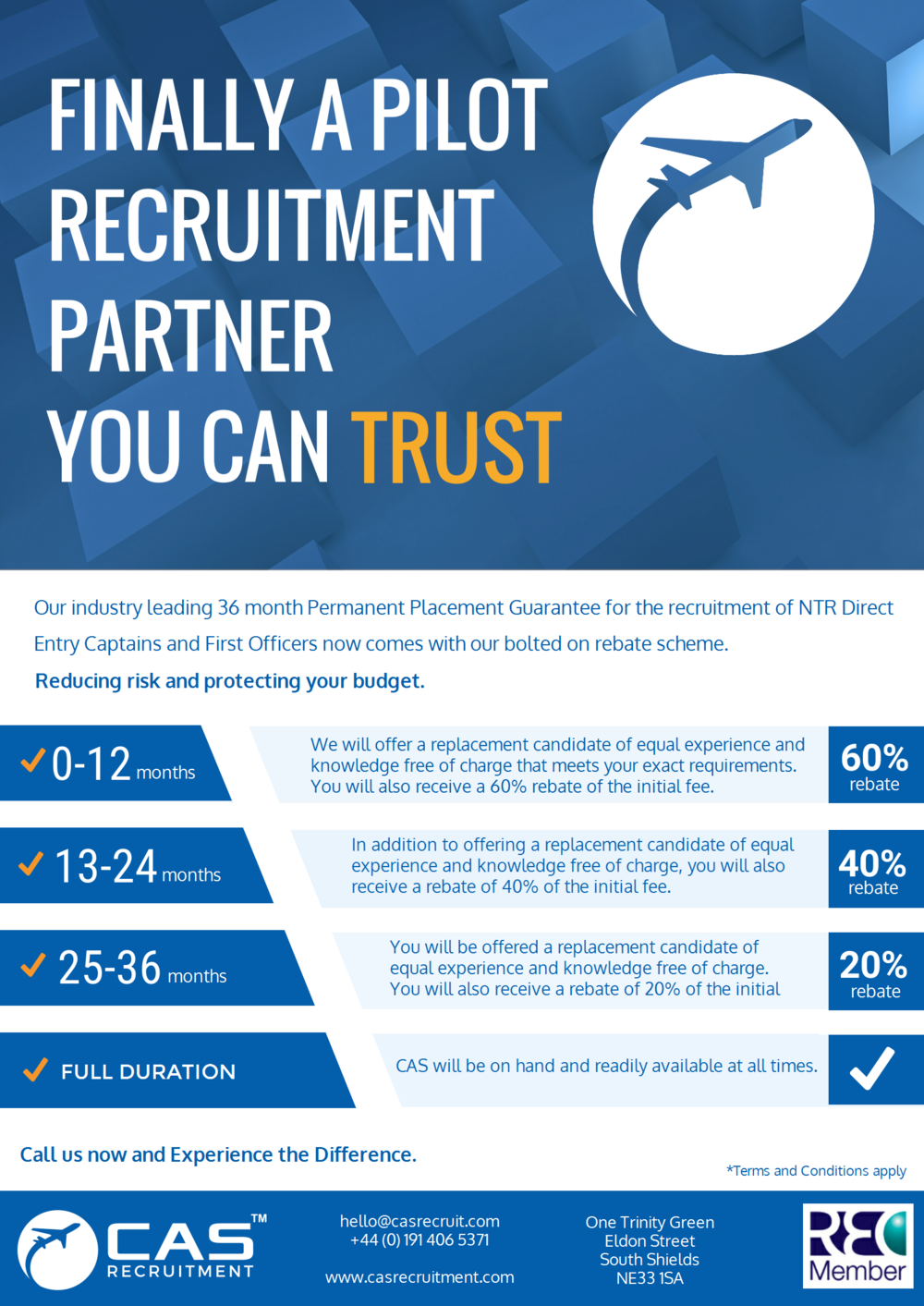 CAS Recruitment 36 month candidate guarantee