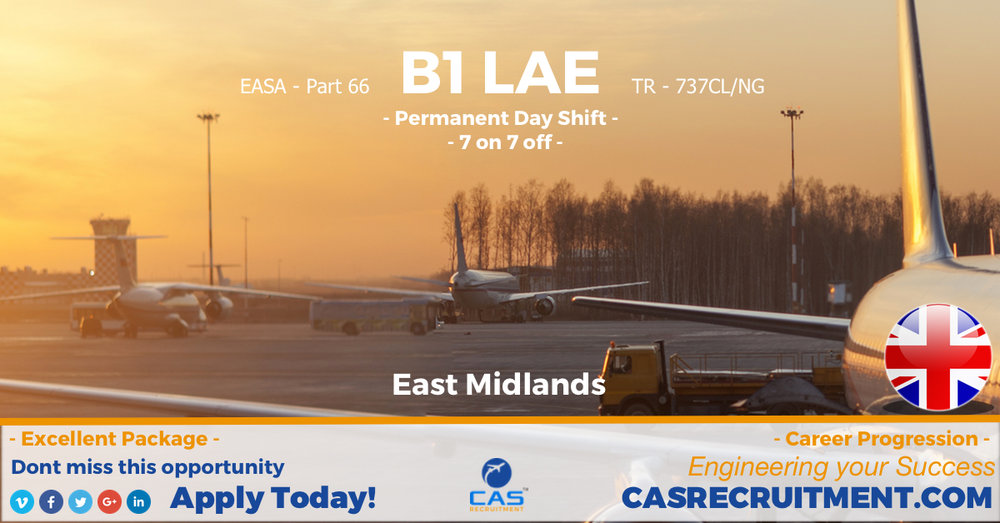 CAS Recruitment B1 LAE EMA PERM DAYS 7 ON 7 OFF 737CL NG LATEST AVIATION JOBS.jpg