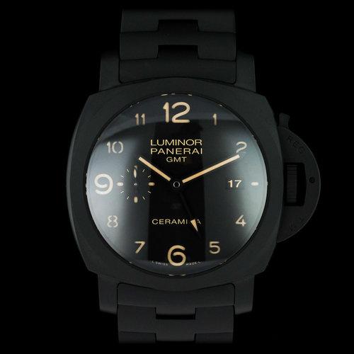 e61ae08c772 Panerai Tuttonero Pam00438 Luminor 1950 3 Days GMT Automatic Ceramica 44mm