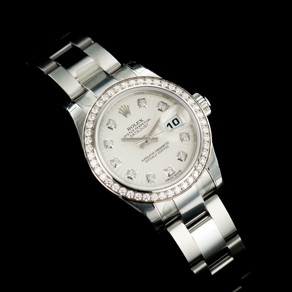 c37f27e600cfe Regal Time — Rolex Datejust 26 ref 179384 Diamond Bezel