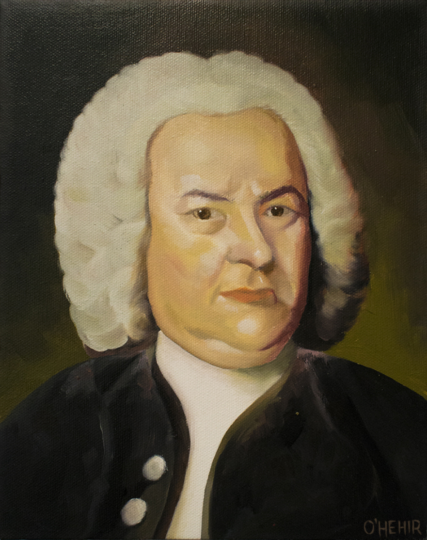 Bach Oil on Canvas 20 x 25.5 cm