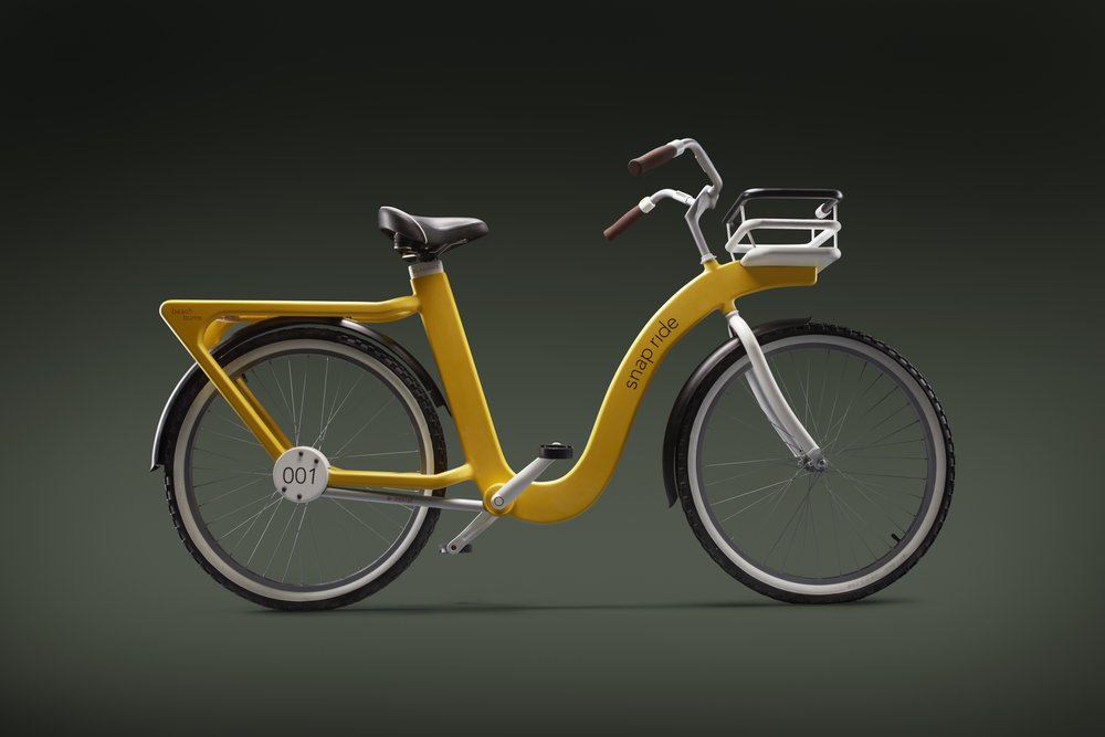 Actual photo of 1:1 scale model of our bicycle concept.