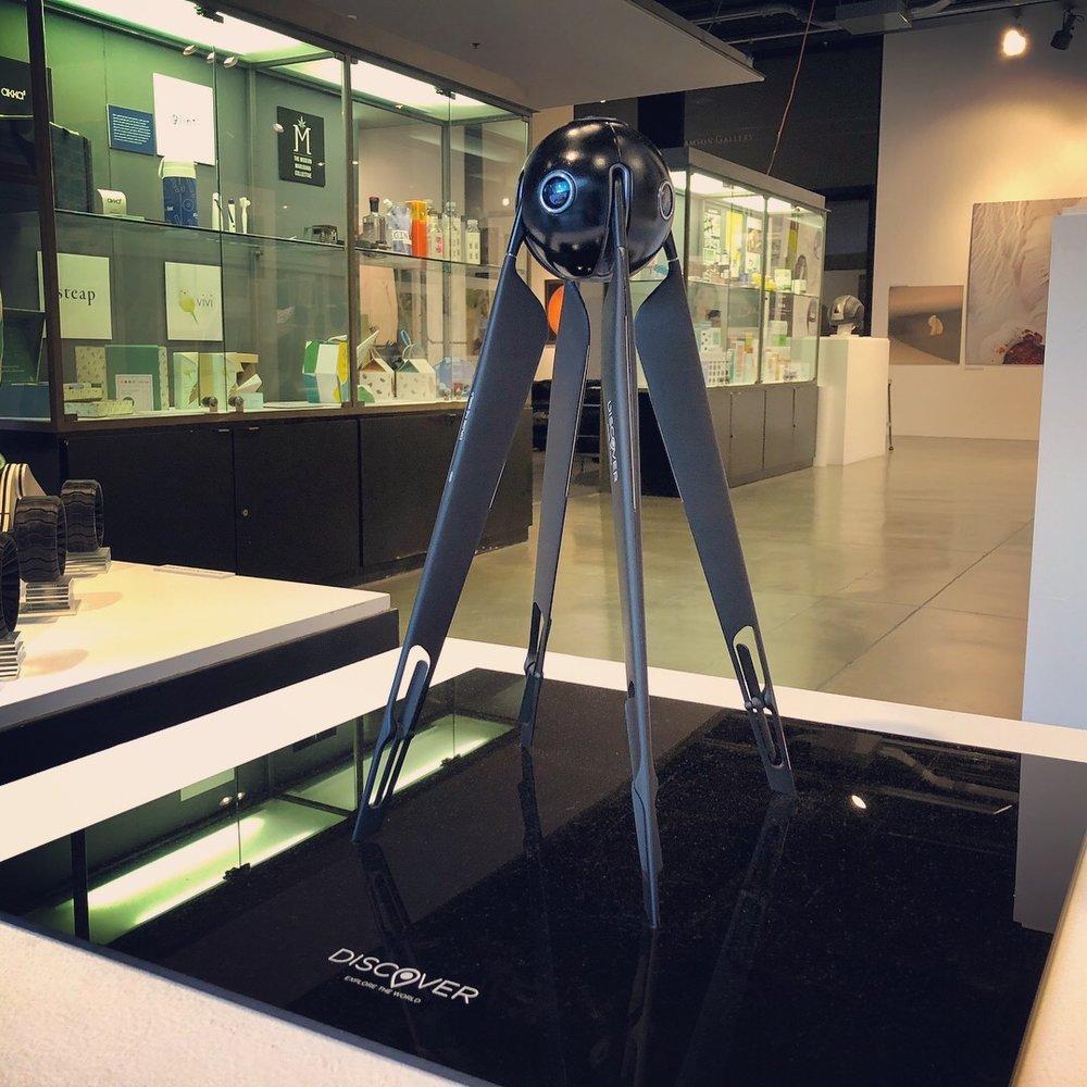 Final model on display.