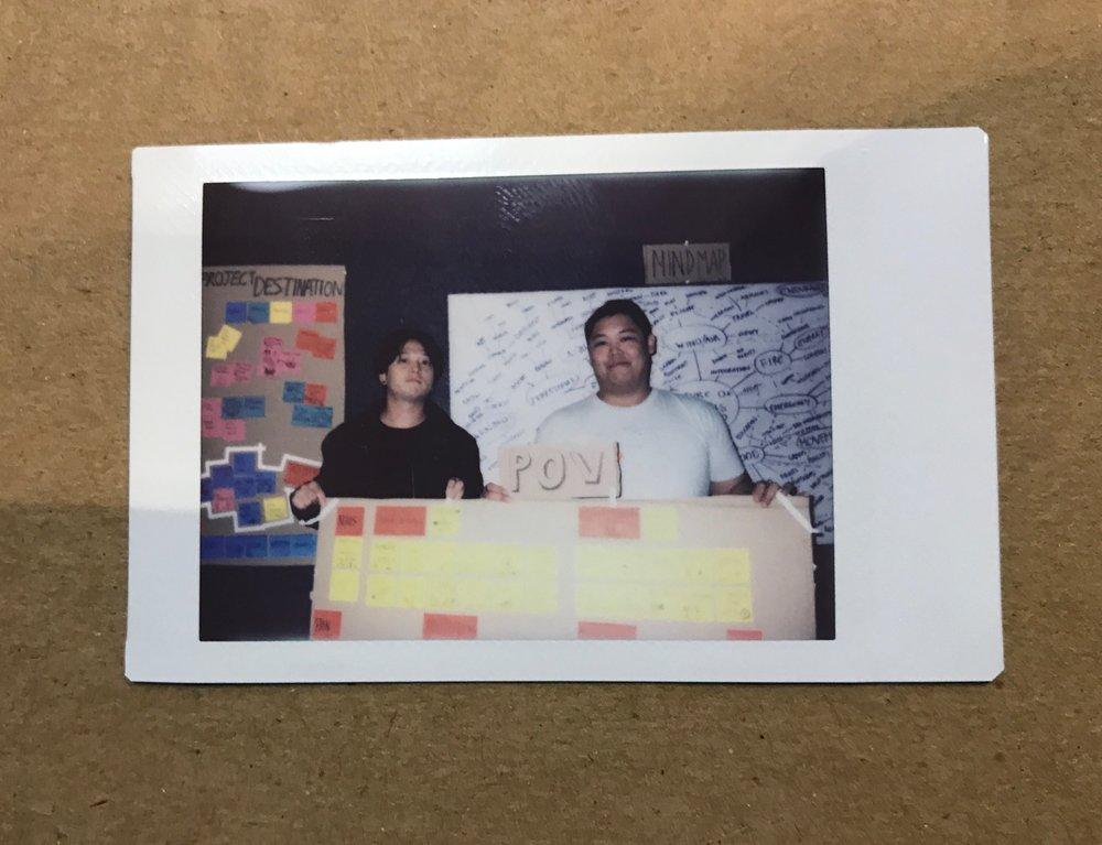 Team Discover:  Industrial Designers -- Seijin Beag (L) and J Gabe Rustia (R)
