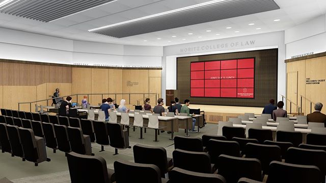 Early sneak peek of the Saxbe Auditorium renovation at the Moritz College of Law. Our design focuses on lighting application, audio/visual technology, and ADA accessibility. The result will foster inclusive collaboration among the students and speakers who use the space.  #innovationinourbackpocket