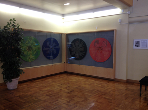 Installation view at Woodbury University.