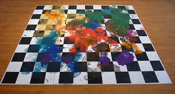 Colorwheel Dancetester Floorpiece