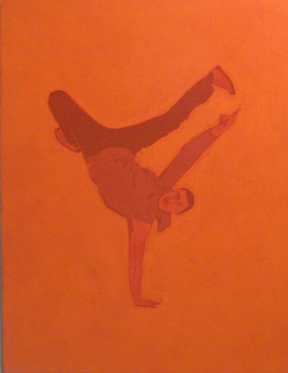 Orange Syrian B-boy