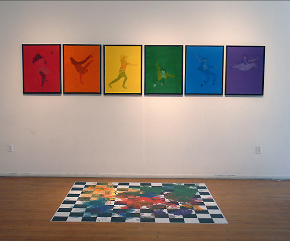 Colorwheel Dancetesters with floor piece