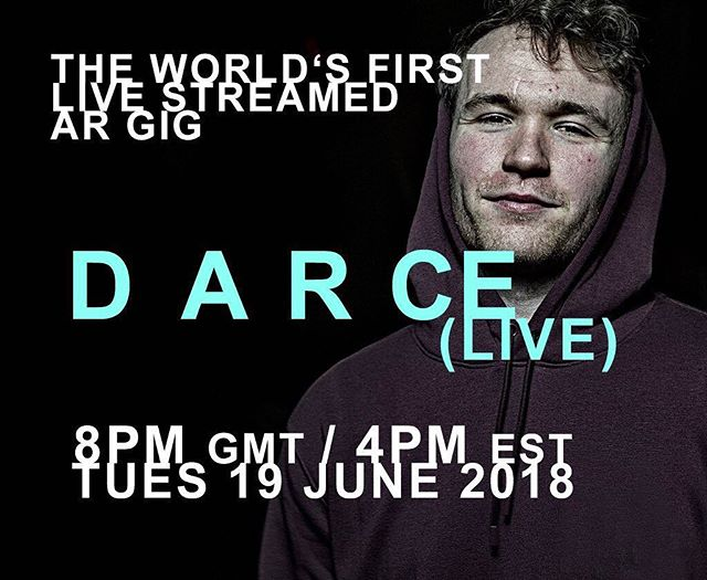 ❗️🎧📲 🌍❗️🎧📲❗️ Attention! World's First Live #AugmentedReality gig is on the way tomorrow, Tuesday 19th June @ 8pm GMT/4pm EST - and you're all invited!  Download Firstage for free on Android or iOS and join us as up-and-coming artist Darce performs Live in #AR worldwide.🌎🌍🌏 . . #AR #augmentedreality #gig #musictechnology #innovation #musicindustry #music #appstore #android