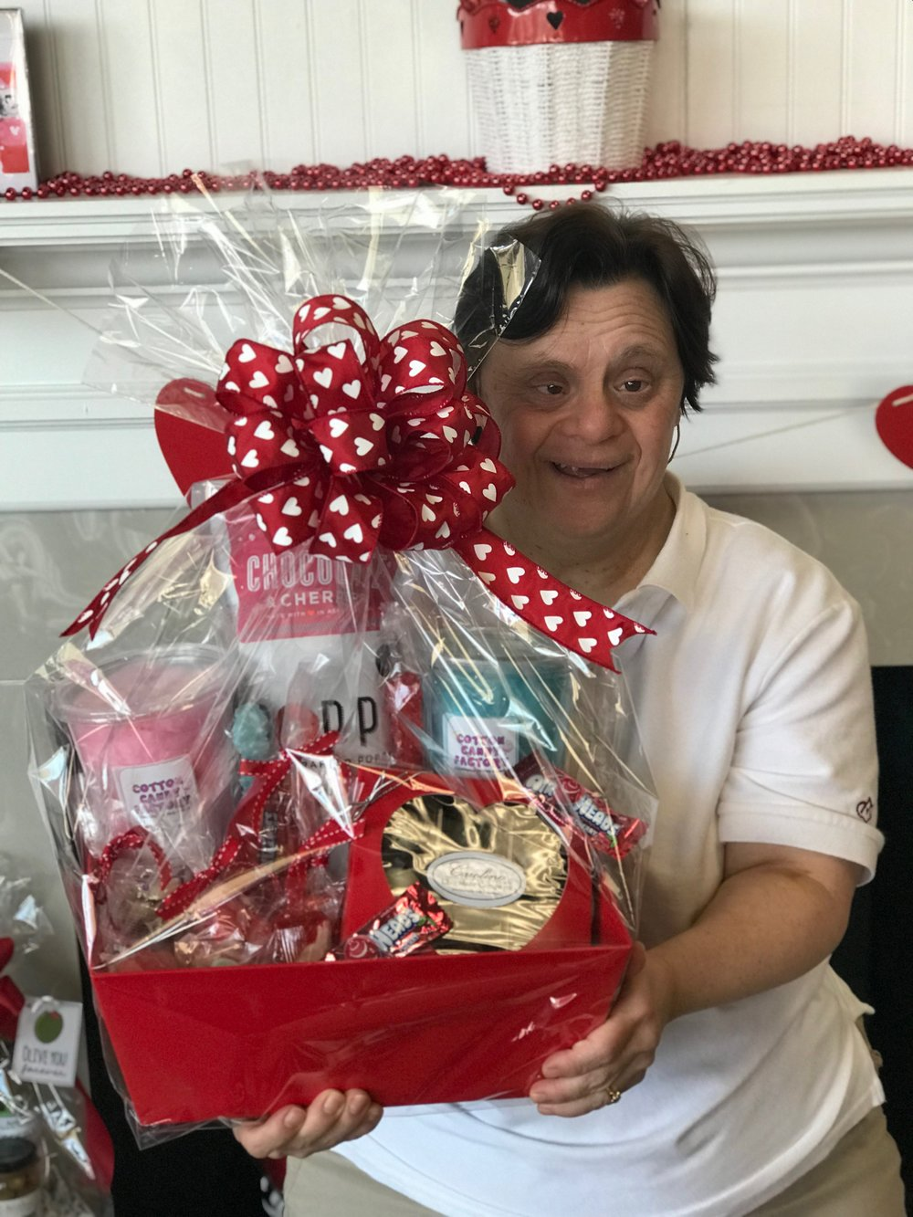 Lorraine with Cherry Gift Basket.JPG