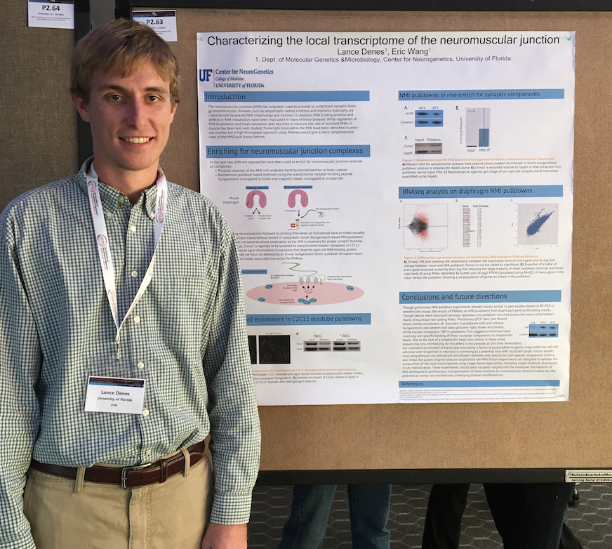 Lance's first poster as a graduate student.