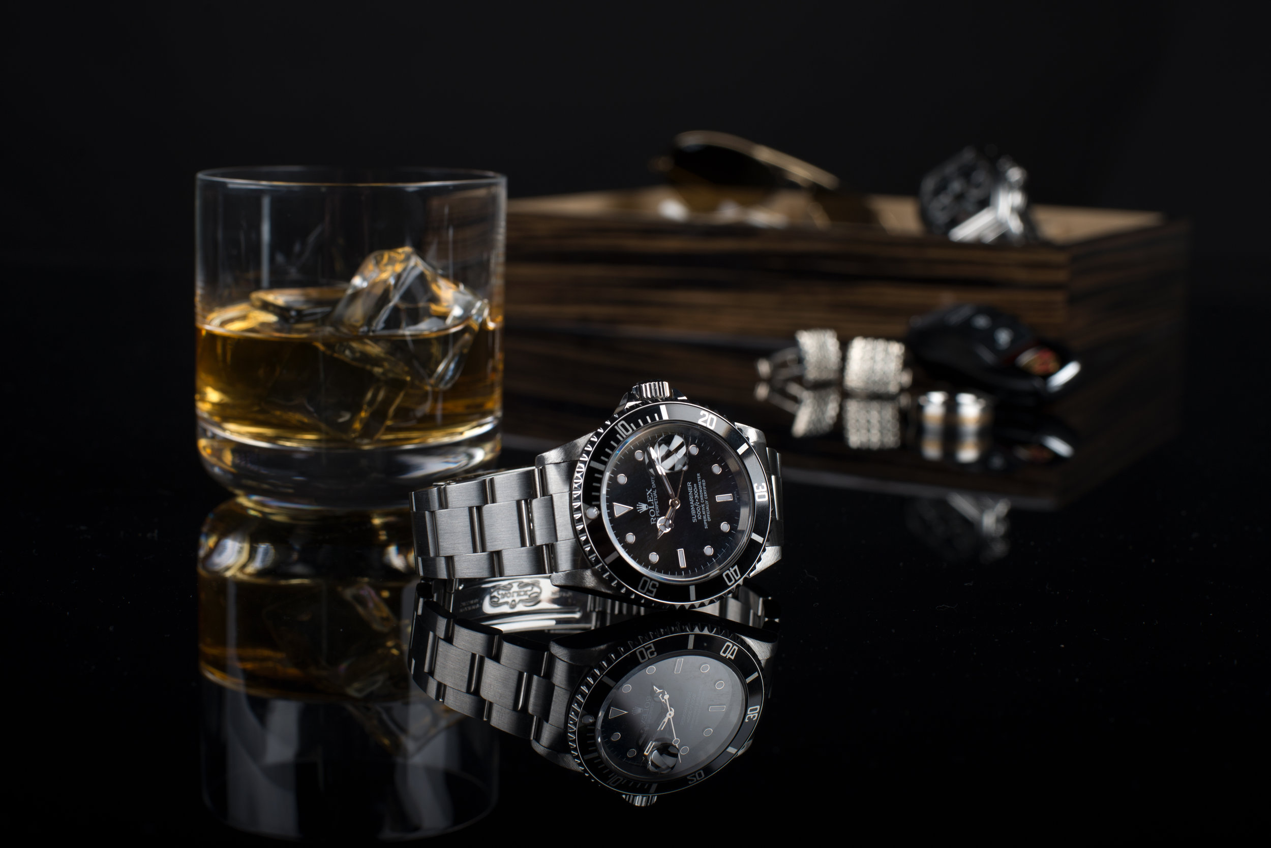 watches and whiskey