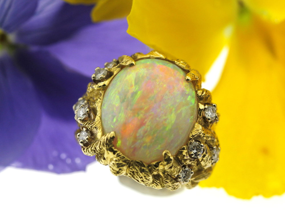Vintage Opal ring in Huffords Estate Collection - available for purchase