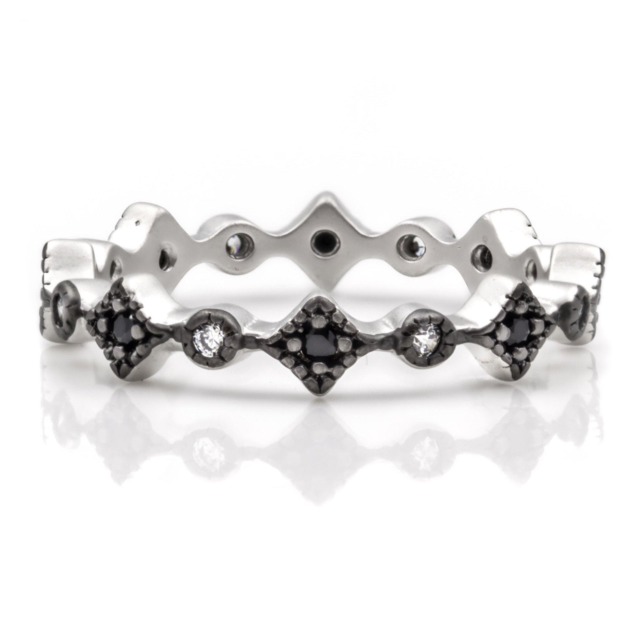 08f14cbac2c40 Freida Rothman Thin Harlequin Ring