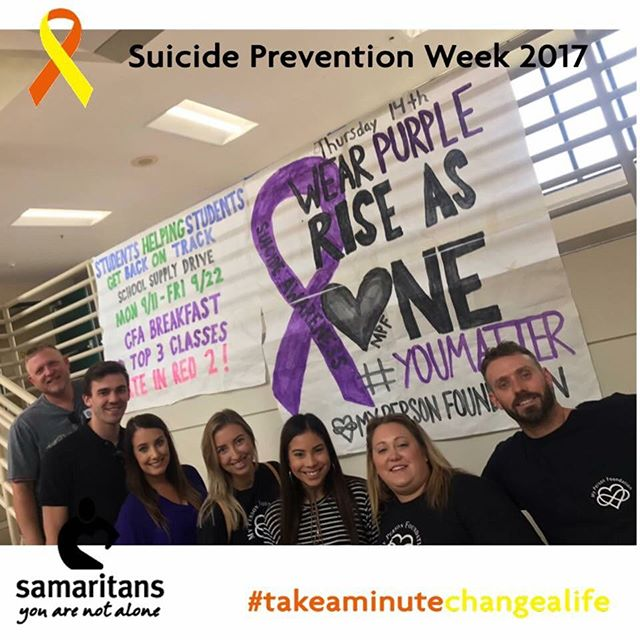 Suicide awareness week.💜 Rock your purple TODAY!💜 Rise as ONE #mentors #studentbodypresident #TWHS #CHS #Leadership #communityovercompetition #communityleaders #bekind #savealife #YOUmatter #whodoyouwanttobein10years #makeachangetoday
