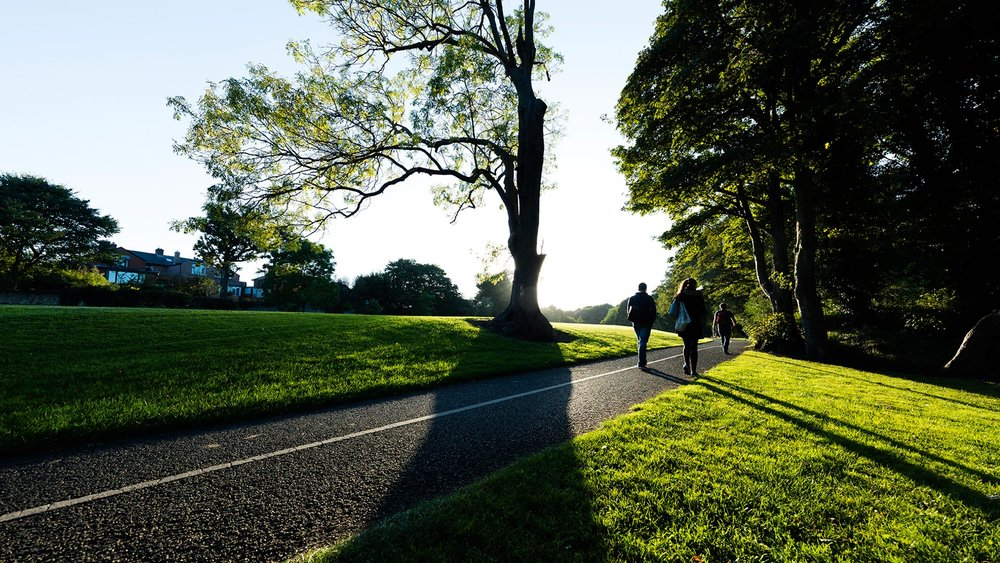Walking is a pleasures in the surrounding areas from the apartments in The Papermill