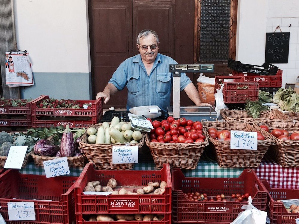 Fresh produce at the market place