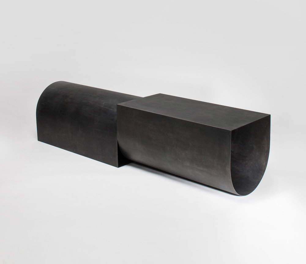 U Bench - Blackened Steel