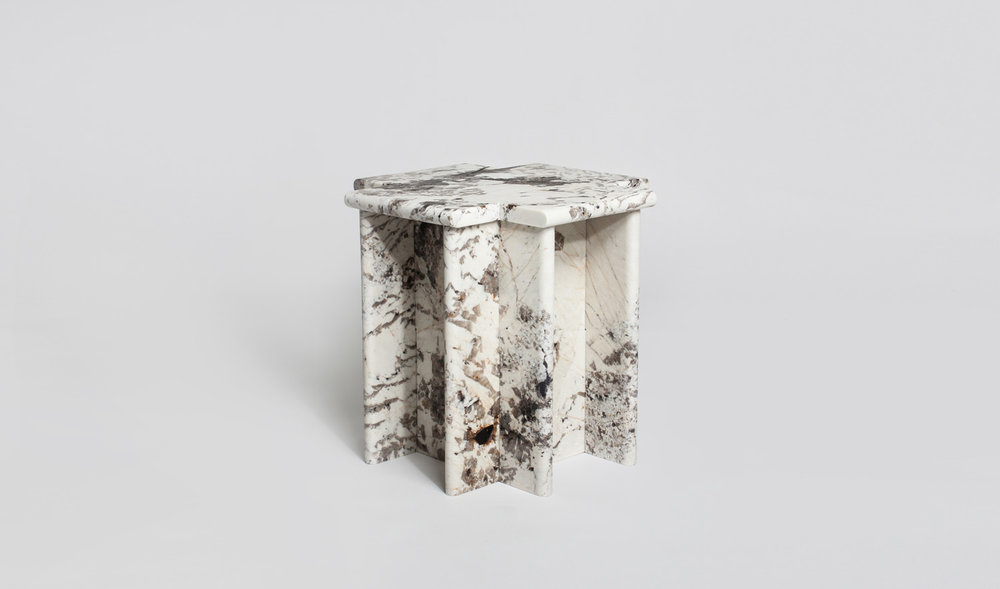Ziggurat Side Table - Blanc Du Bl...