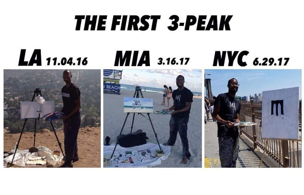 The first three major cites (the first 3-peak); I had achieve on my USA series bucket-list travel for my Art Business.