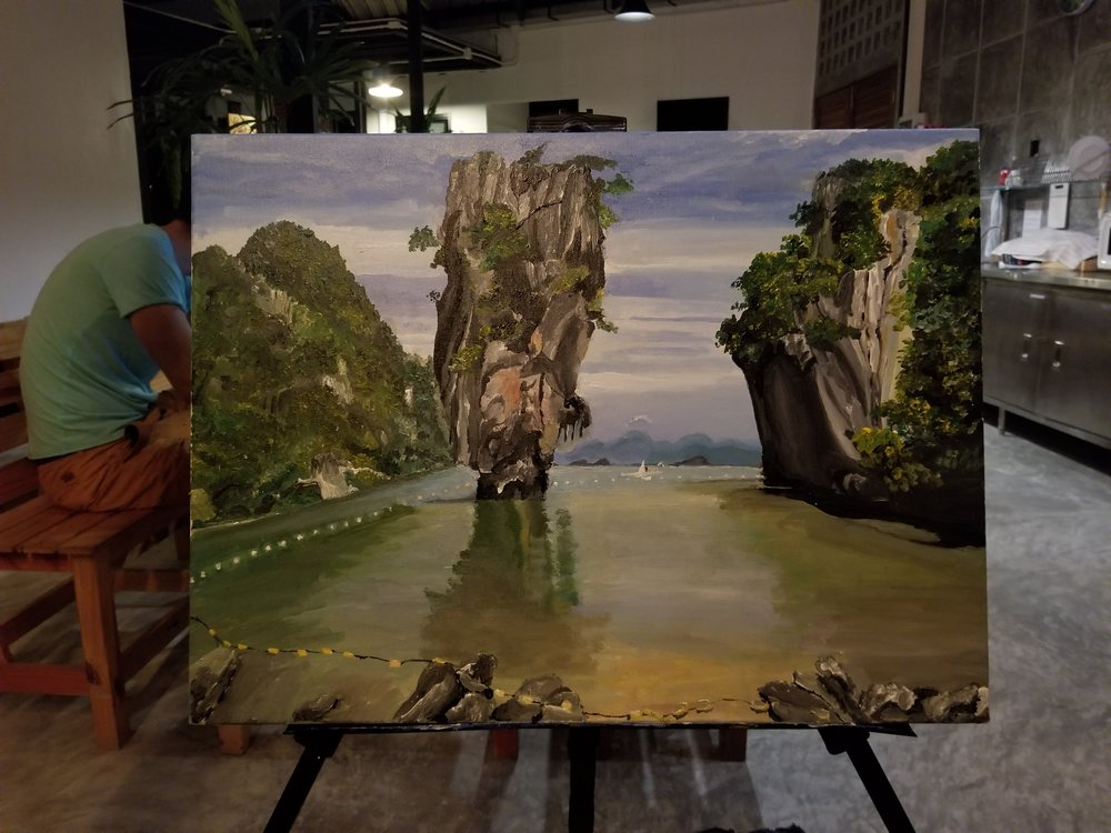 My new finish product painting of the James Bond Island I did in Phuket, Thailand.