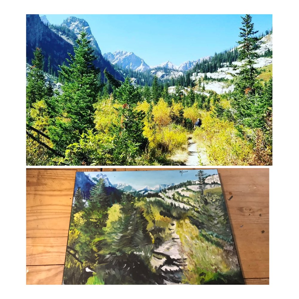 This is a 16x20 Painting of the Grand Teton National Park That I had did