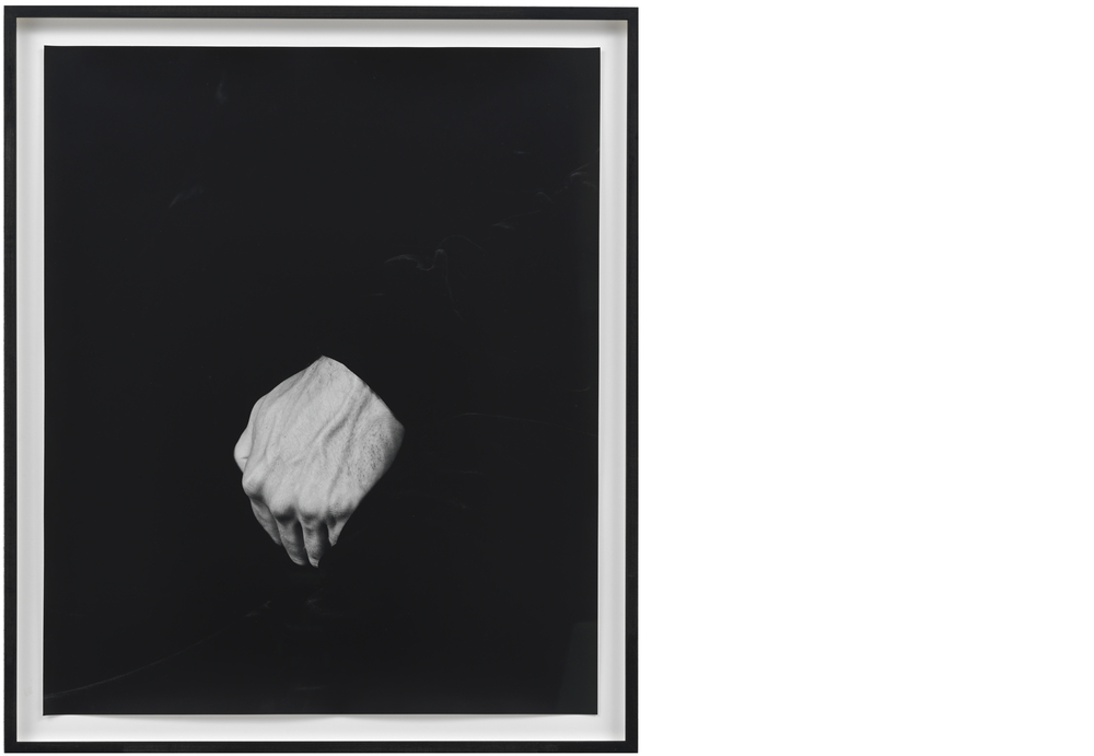 Hand on Body (Crotch #1) 2012, Silver gelatin print, 24 x 20 inches